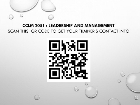 CCLM 2051 Trainer's Contact Info for  Semester 1, 2020/2021 Session (Student Affairs and Development Division)