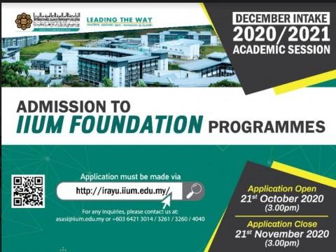 ADMISSION TO IIUM FOUNDATION PROGRAMMES
