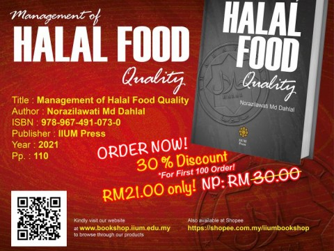 OPEN FOR PRE-ORDER: Management of HALAL FOOD Quality