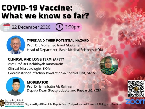 """SPECIAL CONTINUOUS MEDICAL EDUCATION (CME) VIDEO ENTITLED: """"COVID-19 VACCINE: WHAT WE KNOW SO FAR?"""""""