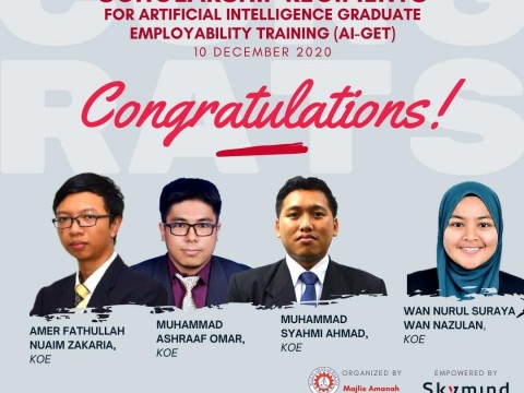 CONGRATULATIONS TO SCHOLARSHIP RECIPIENTS FOR AI-GET