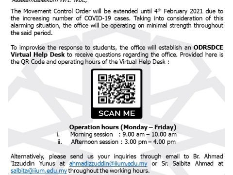 ODRSDCE VIRTUAL HELP DESK