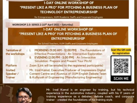 1 DAY ONLINE WORKSHOP ON 6th FEBRUARY & 10th APRIL (SATURDAY) 2021