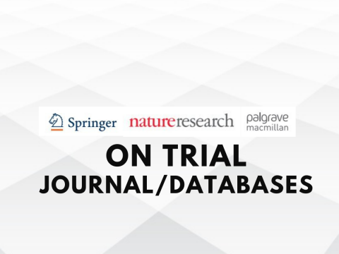 ON TRIAL : Nature journal and Springerlink