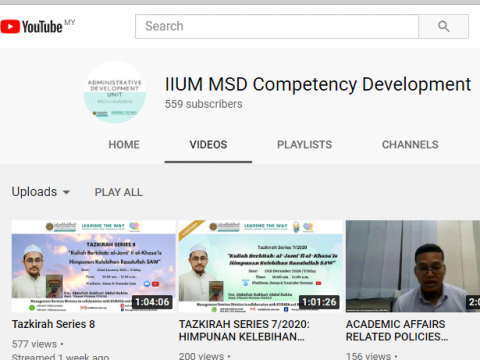 Youtube - IIUM MSD Competency Development