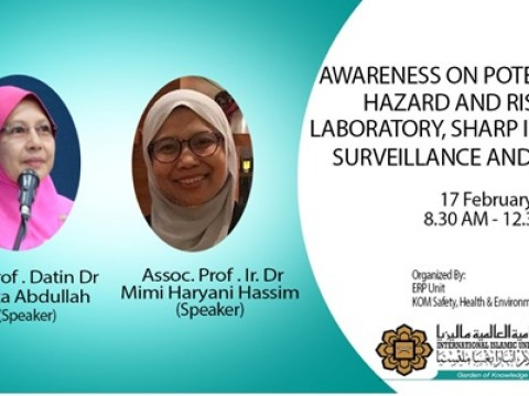 Awareness On Potential Hazard And Risk For Laboratory, Sharp Injury Surveillance And Drill 2021