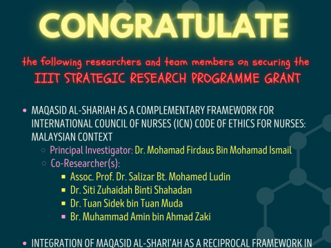 Congratulations on Securing the IIIT STRATEGIC RESEARCH PROGRAMME GRANT
