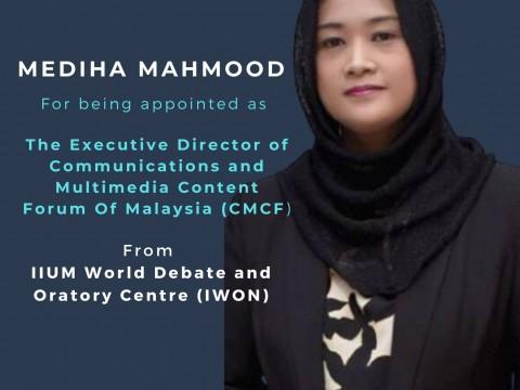 Congratulations to Mediha Mahmood, an IIUM Debate Alumnus