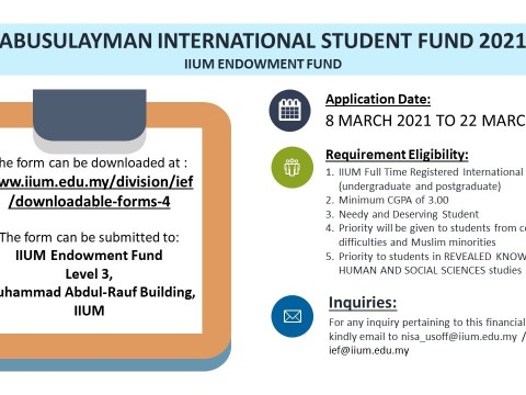 ABUSULAYMAN INTERNATIONAL  STUDENT FUND 2021