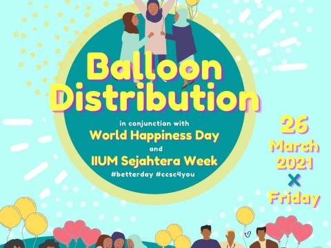 BALLOON DISTRIBUTION IN CELEBRATION OF IIUM SEJAHTERA WEEK