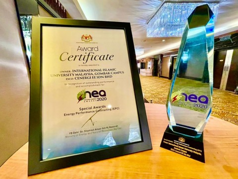 CONGRATULATIONS! IIUM WON NATIONAL ENERGY AWARD (NEA) 2020