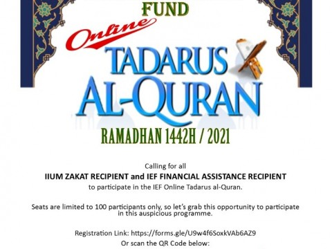 ONLINE TADARUS AL-QURAN - FOR IIUM STUDENTS ONLY