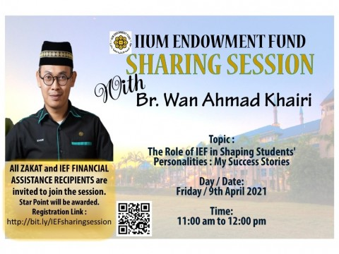 IIUM Endowment Fund Sharing Session with Br. Wan Ahmad Khairi