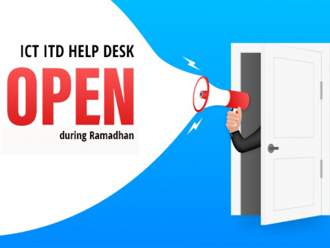 RAMADHAN MUBARAK & OPENING HOURS OF ICT SERVICES HELP DESK