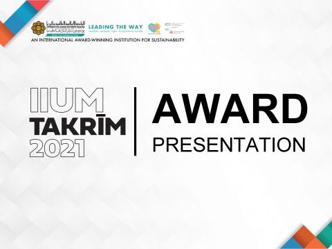 IIUM Takrim 2021 Award Winners for Kulliyyah of Pharmacy