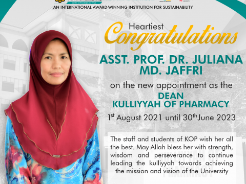 Announcement of The New KOP Academic Administrators Line Up (2021-2023)