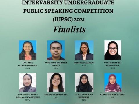 CONGRATULATIONS! Intervarsity Undergraduate Public Speaking Competition (IUPSC) 2021 Finalists