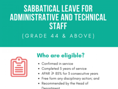 Tips of the Month : Sabbatical Leave for Administrative & Technical Staff