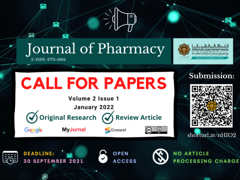 JOURNAL OF PHARMACY - CALL FOR PAPERS