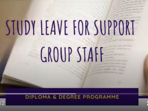 Tips of the Month : Study Leave for Support Staff