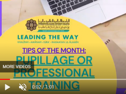Tips of the Month : IIUM Pupillage / Professional Training