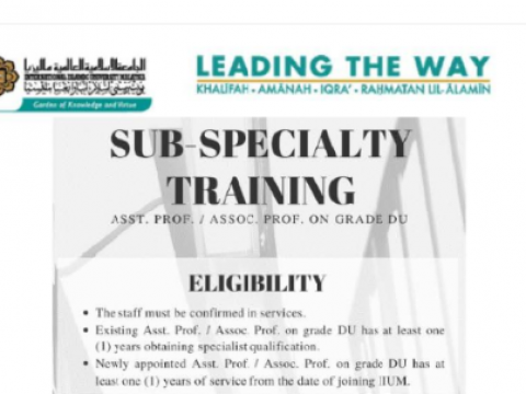 Tips of the Month : Sub-Specialty Training