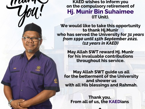 Compulsory Retirement - Thank you Br. Munir.