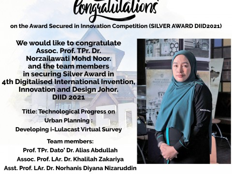Congratulations on the award secured in DIID 2021