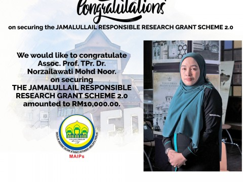 Congratulations on securing the Jamalullail Responsible Research Grant Scheme 2.0