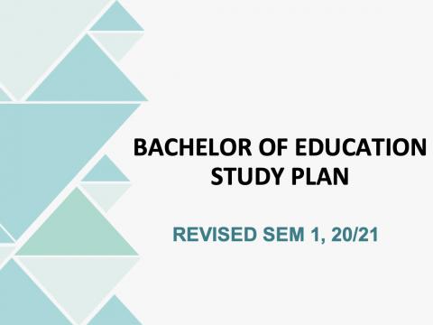 BACHELOR OF EDUCATION STUDY PLAN