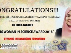 YOUNG WOMAN IN SCIENCE AWARD 2018