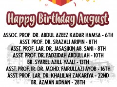 Happy Birthday - August