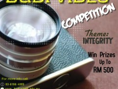"""BUDI VIDEO COMPETITION (BUDIVIC) 2018- THEME """" INTEGRITY"""""""