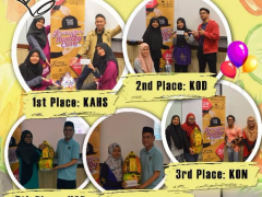 Congratulations to the Winner of Health Cooking Competition 2018