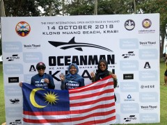 Two IIUM lifeguards prove their swim skills at international level