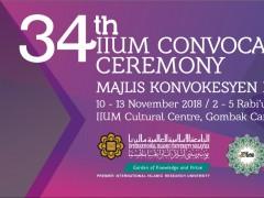 Majlis Konvokesyen UIAM ke-34 meraikan 5,413 graduan termasuk penyampaian 7 Anugerah Khas