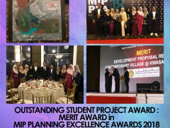 OUTSTANDING STUDENT PROJECT AWARD : MERIT AWARD in MIP PLANNING EXCELLENCE AWARDS 2018