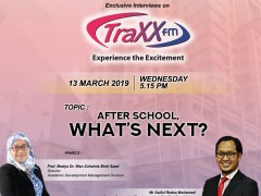 Our Senior Counselor with TraxxFM