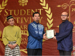 "Well done KOD student for ""Sport Leadership Award"" during ""Student Activity Award 2018"""