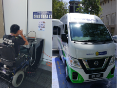 The Disability Service Unit (DSU) receive two contributions for the IIUM disabled community