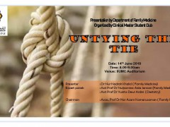 """""""Untying the Tie"""" - KOM CPC by Dept. of Family Medicine (14th June 2019/Friday) at Auditorium IIUMMC"""