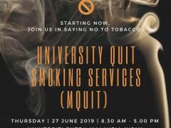 INVITATION TO UNIVERSITY QUIT SMOKING SERVICES (mQuit) PROGRAMME