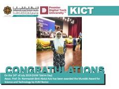 Congratulations - Assoc. Prof. Dr. Normaziah Abdul Aziz