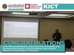 Congratulations - Prof. Dr. Mohamed Ridza Wahiddin