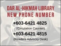 IIUM Dar al-Hikmah Library new telephone number