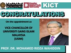 Congratulations Prof Ridza as USIM Vice Chancellor