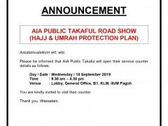 AIA Public Takaful Road Show (Hajj & Umrah Protection Plan