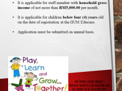 SUBSIDY FOR CHILDCARE FEE AT IIUM EDUCARE