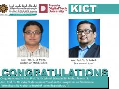 Congratulation Ts. Dr. Izzuddin & Ts. Dr. Zulkefli