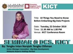 Seminar at DCS, KICT
